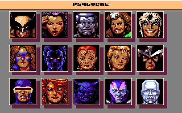 X-Men II Fall of the Mutants Character Roster